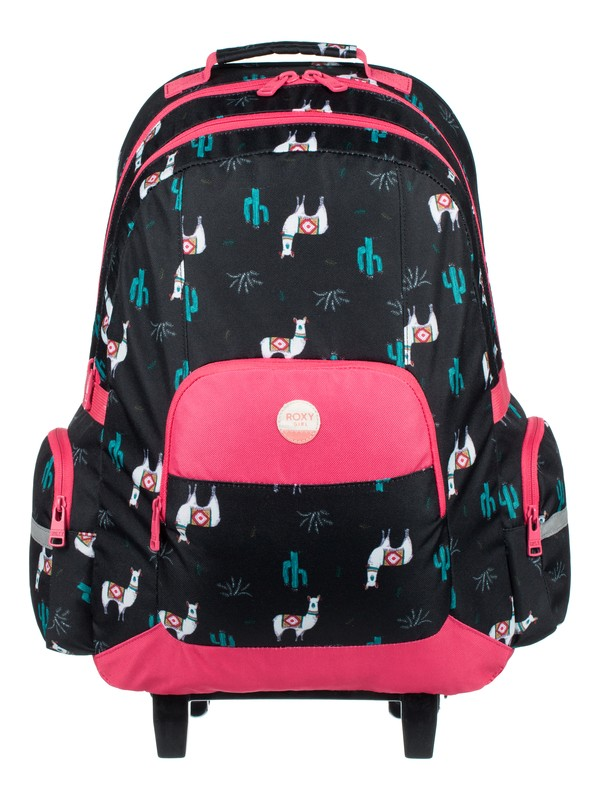 0 Free Spirit - Wheelie Backpack Black ERLBP03024 Roxy