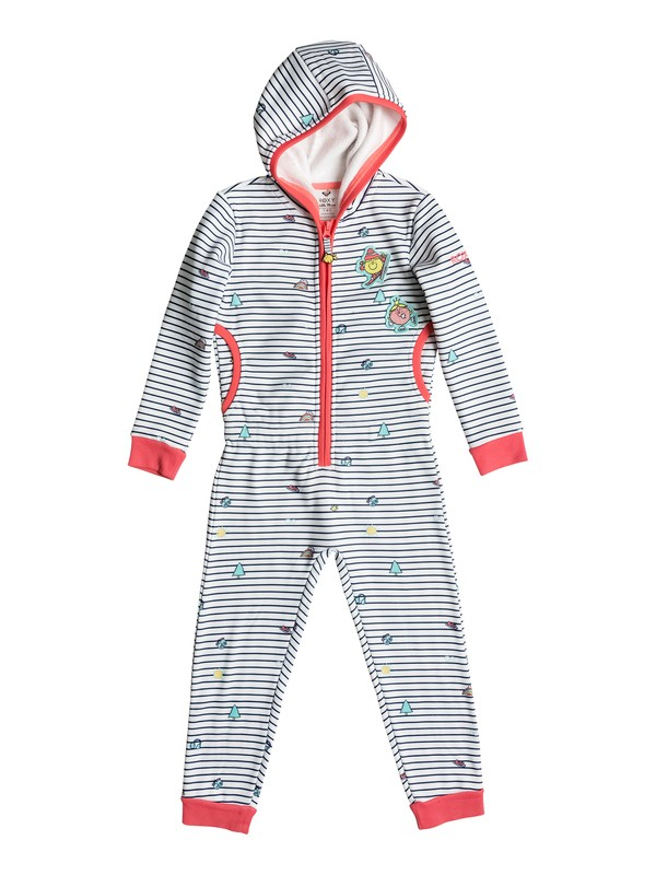 0 Girls 2-6  Cozy Up Little Miss Hooded One Piece White ERLFT03110 Roxy