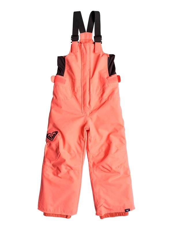 0 Girls 2-6  Lola Bib Snow Pants Orange ERLTP03004 Roxy