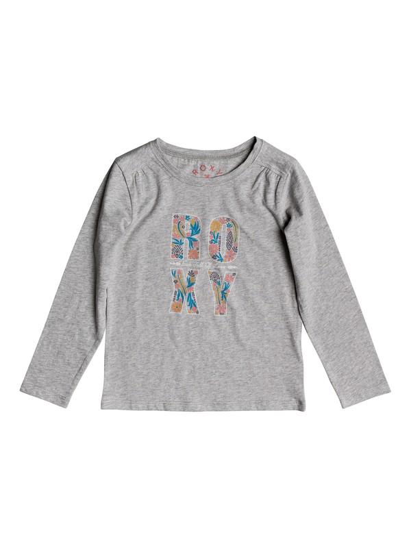 0 Never Ages Flower Power - Long Sleeve T-Shirt Grey ERLZT03093 Roxy