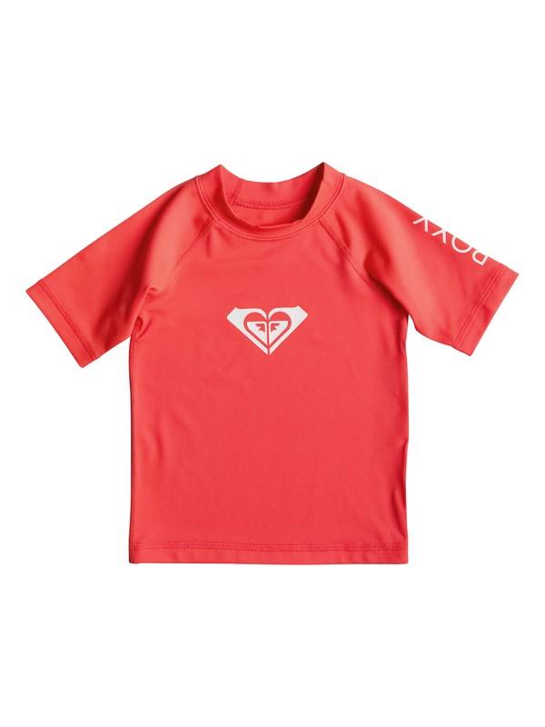0 Baby Whole Hearted Short Sleeve Rashguard Orange ERNWR03000 Roxy