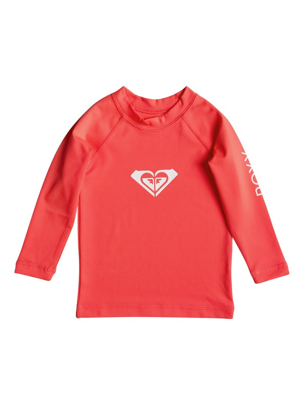 0 Baby Whole Hearted Long Sleeve Rashguard Orange ERNWR03001 Roxy