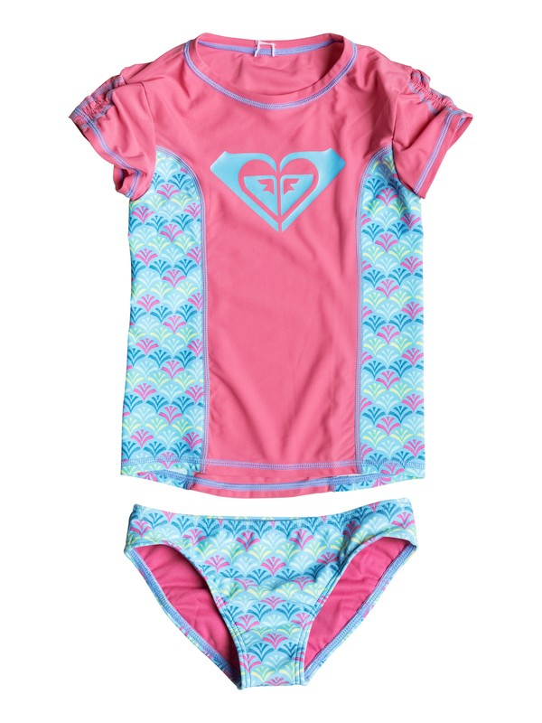 0 Girls 2-6 Tiles Rashguard Set  PGRS60396 Roxy