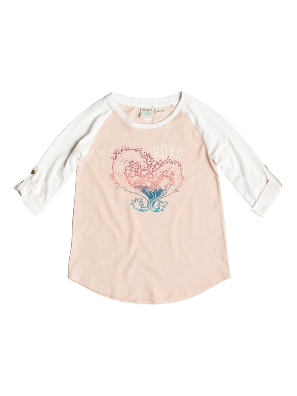 0 Girls 2-6 Waved Heart T-Shirt  PGRS61356 Roxy
