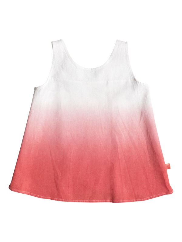 0 Girls 2-6 Peach Blossom Sleeveless Top  PGRS65416 Roxy
