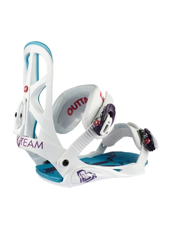 0 Team Bindings White Q233105 Roxy