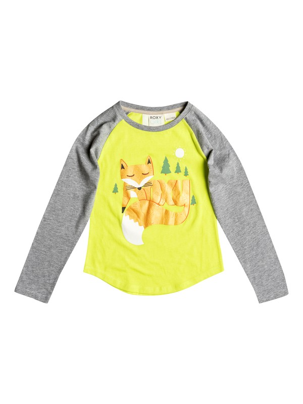 0 Girl's 2-6 Foxtail Raglan Long Sleeve Tee  RRF51256 Roxy