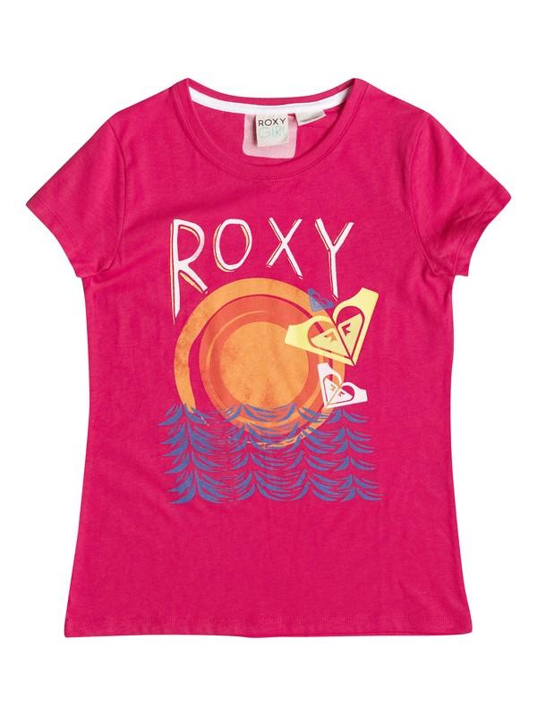 0 Girl's 7-14 Wave Rider Sun Tee  RRF51327 Roxy