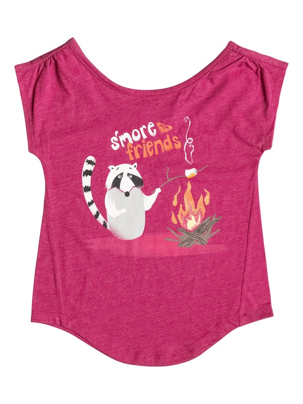0 Girl's 2-6 S'More Friends Tee  RRF51536 Roxy