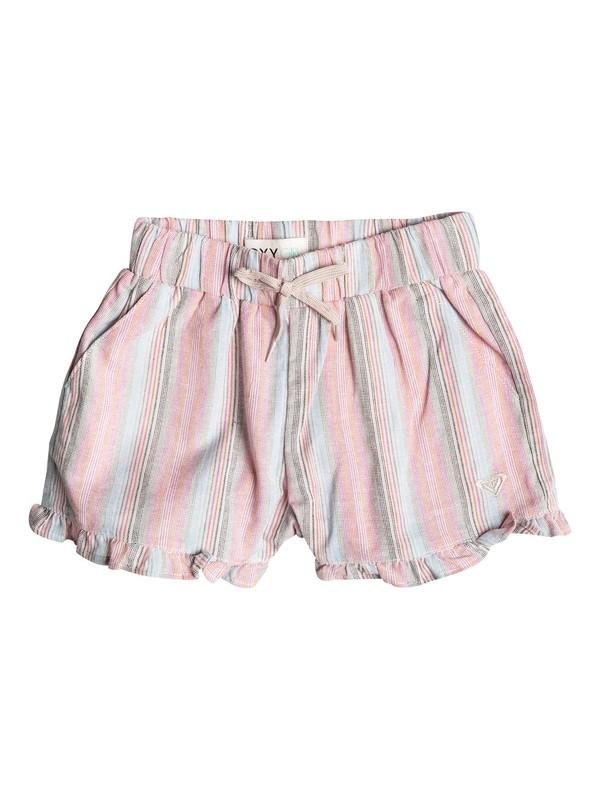 0 Girl's 2-6 Ruffle Striped Shorts  RRF55046 Roxy