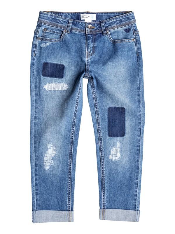0 Girl's 7-14 Sandblaster Boyfriend Jeans  RRF55197 Roxy