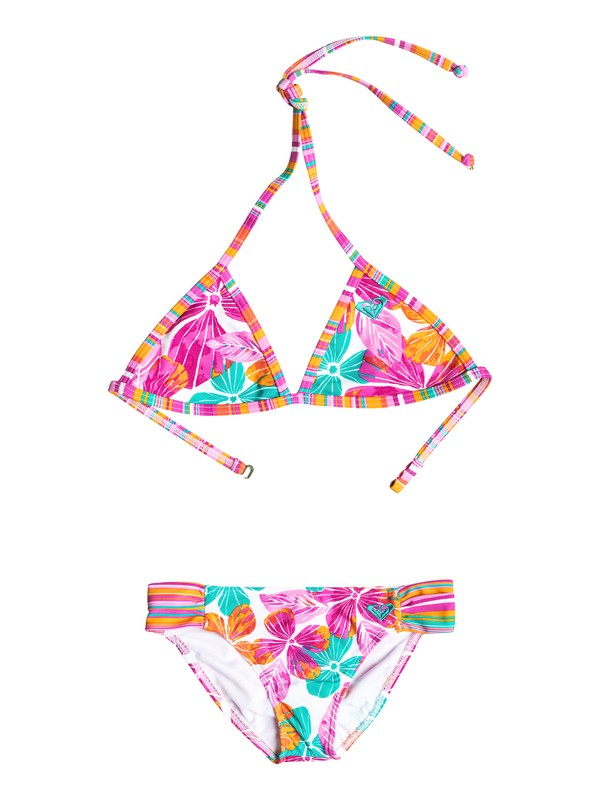 0 Girl's 7-14 Jungle Times Floral Triangle Bikini Set  RRF58507 Roxy