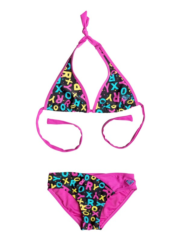 0 Baby Roxy Pop Logo Halter Bikini Set  RRF58541 Roxy