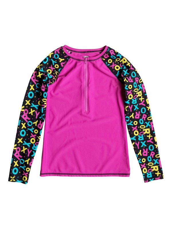 0 Girl's 7-14 Roxy Pop Logo Long Sleeve Rashguard  RRF58597 Roxy