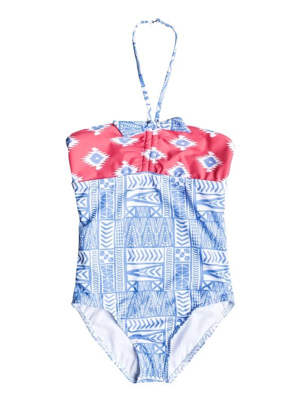 0 Girl's 7-14 Sunset Swim Halter One Piece Swimsuit  RRF58637 Roxy