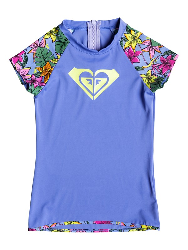 0 Girl's 7-14 Hot Tropics Short Sleeve Rashguard  RRF58667 Roxy