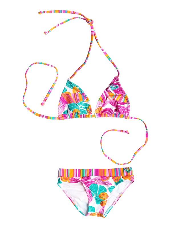 0 Baby Flutter Tiki Triangle Bikini Set  RRF58681 Roxy