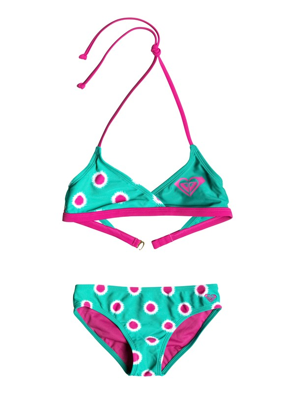 0 Baby Safari Color Blocked Bikini Set  RRF58731 Roxy