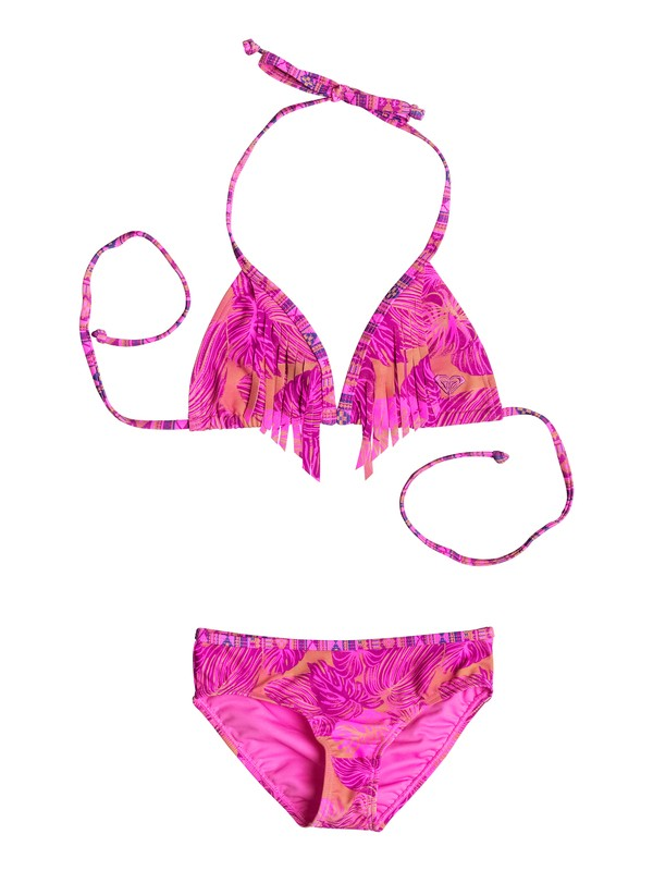 0 Girl's 7-14 Valencia Beach Triangle Set  RRF68737 Roxy