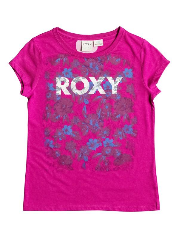 0 Girls 7-14 Big Dark Floral T-Shirt  RRH51007 Roxy