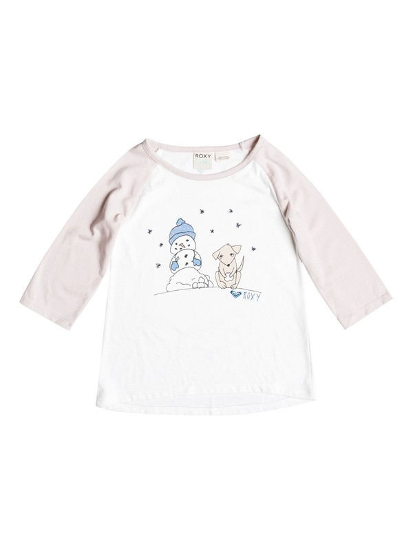 0 Girls 2-6 Snow Puppy T-Shirt  RRH51346 Roxy