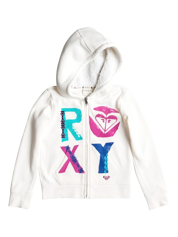0 Girls 2-6 Blocks Zip-Up Hoodie  RRH52266 Roxy
