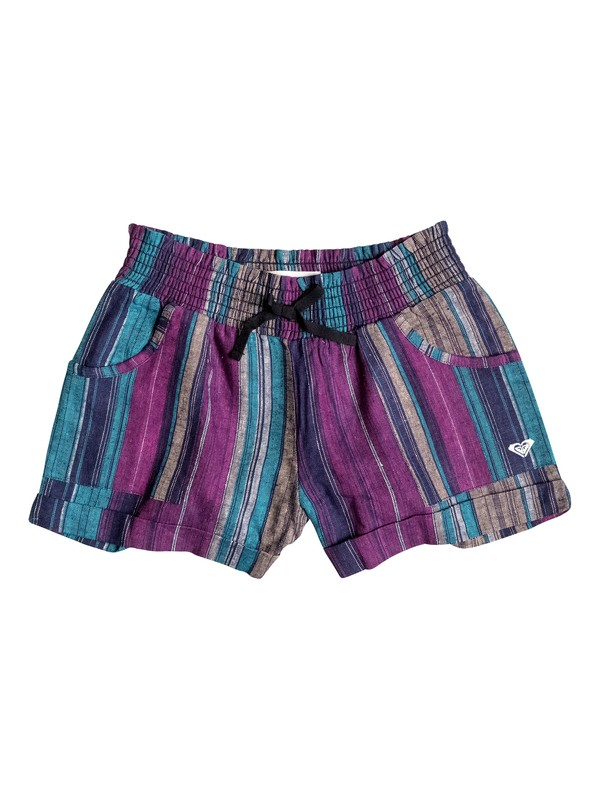 0 Girls 2-6 Beach Stripe Shorts  RRH55106 Roxy