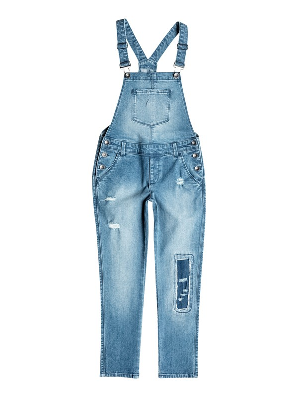 0 Girls 2-6 Distressed Denim Overalls  RRH55146 Roxy