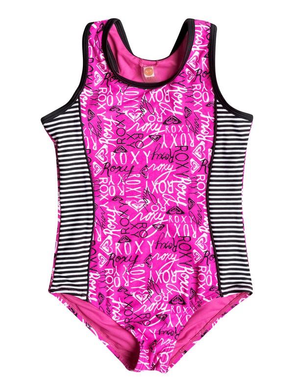 0 Girls 7-14 Big Logo Pop One-Piece Swimsuit  RRH58557 Roxy