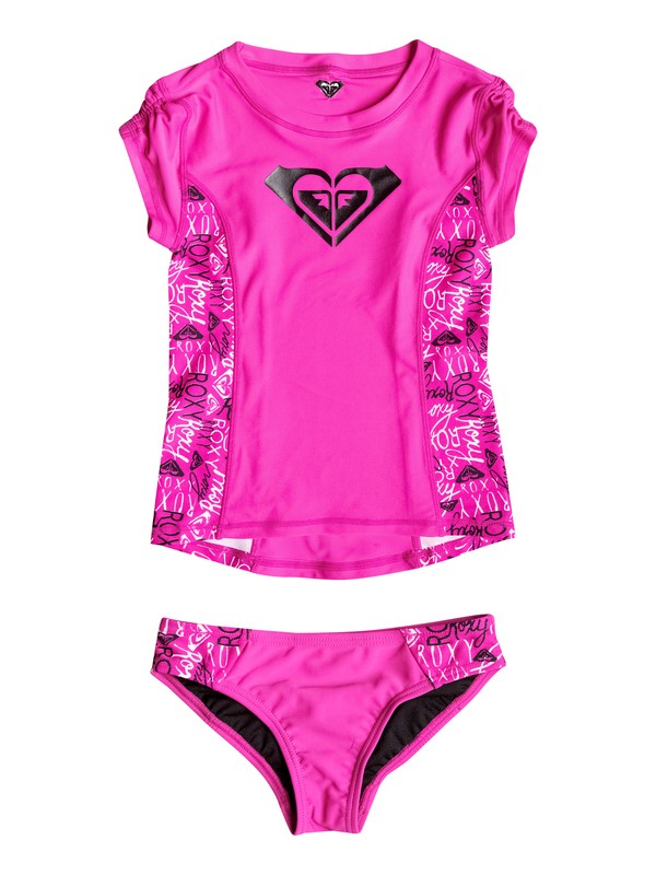 0 Girls 2-6 Logo Pop Rashguard Set  RRH58566 Roxy