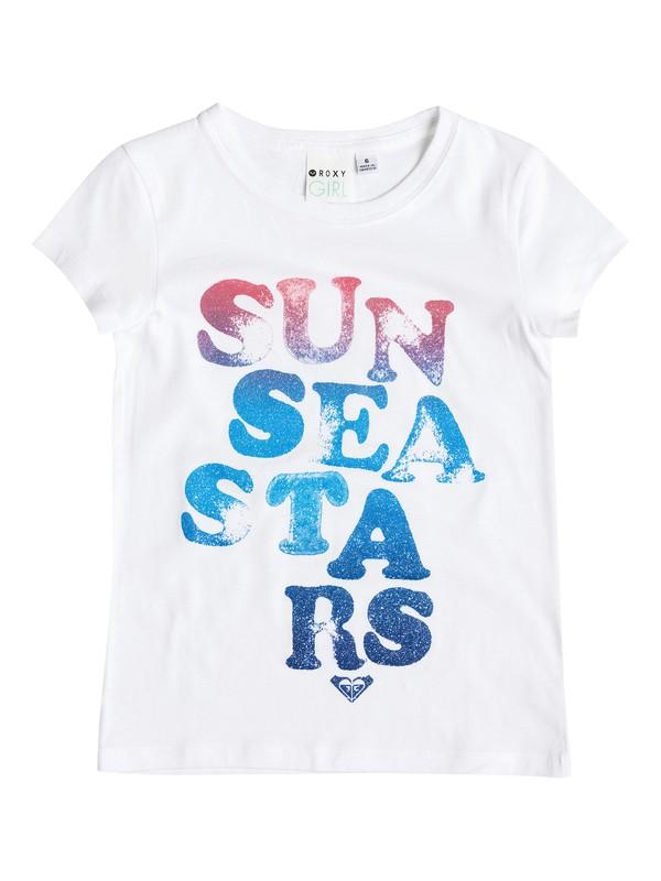 0 Girl's 2-6 Sun Sea Stars Tee  RRM51296 Roxy
