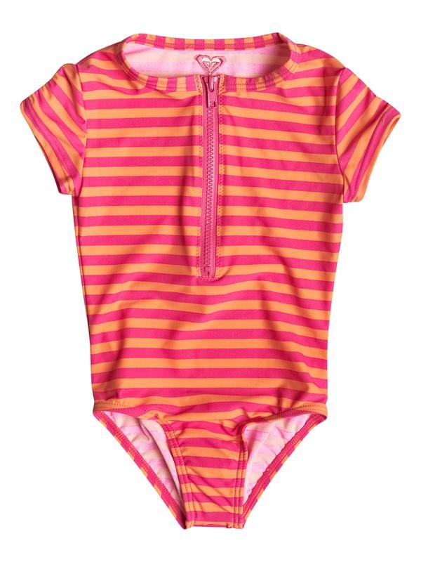0 Girl's 2-6 Flamingo Beach One Piece Rashguard  RRM58656 Roxy