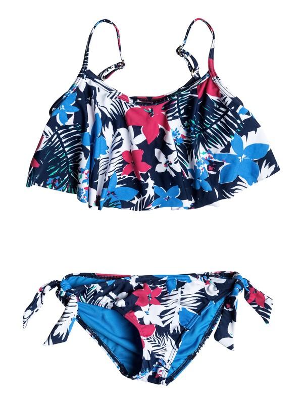0 Girl's 7-14 Paradise Bound Flutter Bikini Set  RRM58687 Roxy