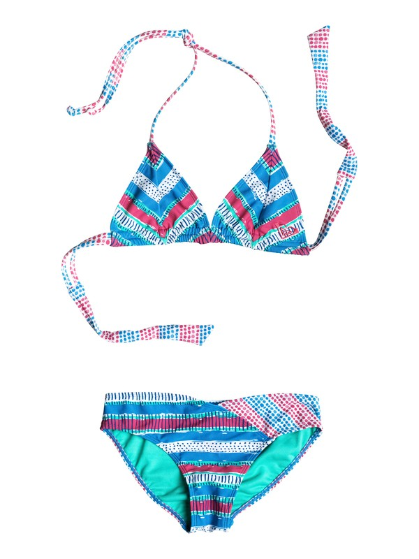 0 Girl's 7-14 All Mixed Up Double Strap Bikini Set  RRM58817 Roxy
