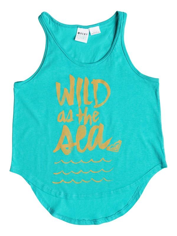 0 Girl's 7-14 Wild As The Sea Tank  RRS51227 Roxy