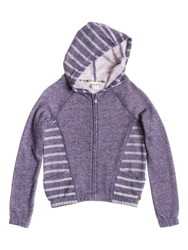 0 Girl's 7-14 Play Time Stripe Hoodie  RRS52077 Roxy