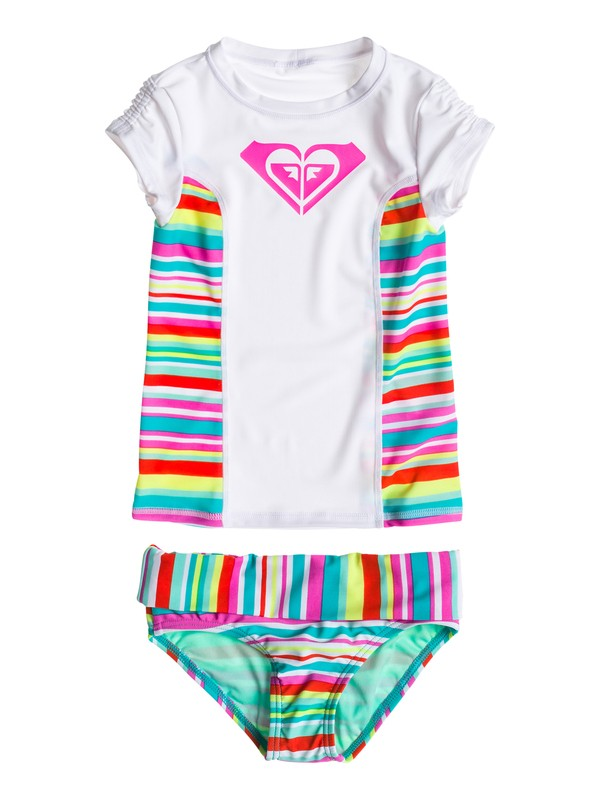0 Girl's 2-6 Stripe Rashguard Set  RRS58606 Roxy