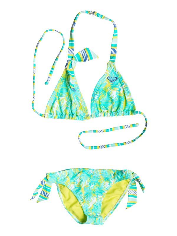 0 Girl's 7-14 Palm Palm Tiki Tri Set  RRS58687 Roxy