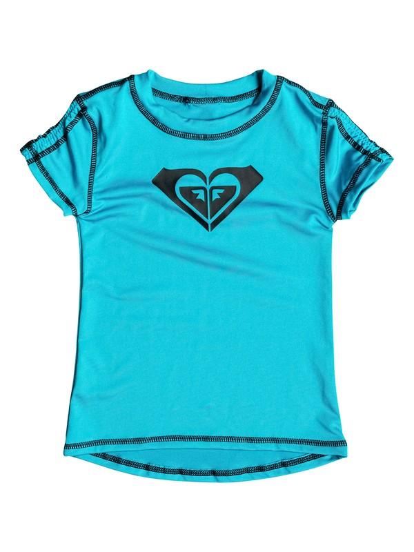 0 Girl's 7-14 Core Short Sleeve Rashguard  RRX50177 Roxy