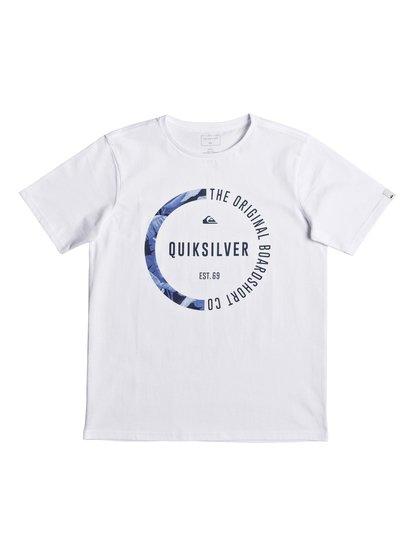 Classic revenge <strong>t</strong> shirt col rond pour garçon blanc quiksilver