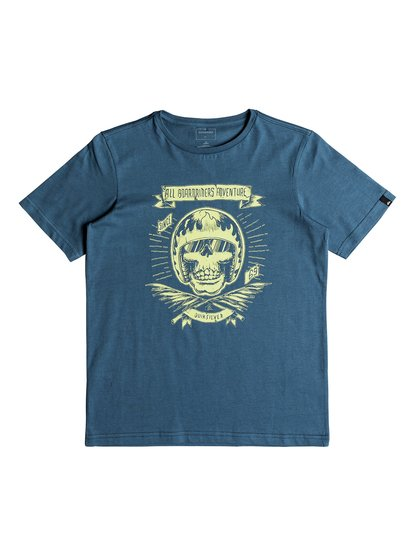 Classic makau ola <strong>t</strong> shirt col rond pour garçon bleu quiksilver