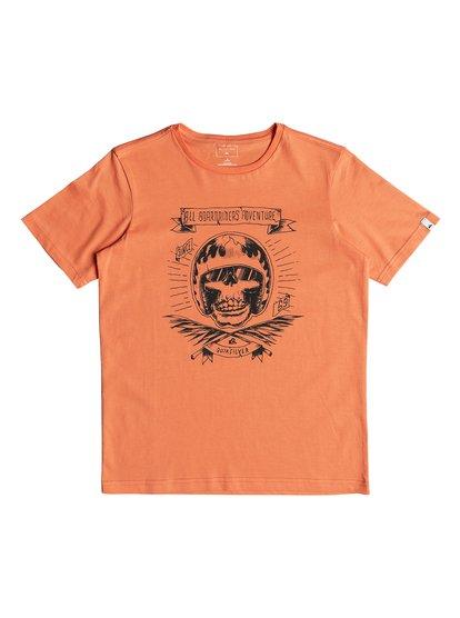 Classic makau ola <strong>t</strong> shirt col rond pour garçon orange quiksilver