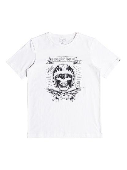 Classic makau ola <strong>t</strong> shirt col rond pour garçon blanc quiksilver