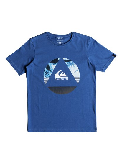 Classic fluid turns <strong>t</strong> shirt col rond pour garçon bleu quiksilver