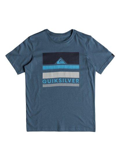 Classic loud places <strong>t</strong> shirt col rond pour garçon bleu quiksilver