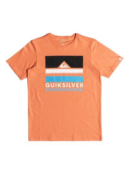Classic loud places <strong>t</strong> shirt col rond pour garçon orange quiksilver