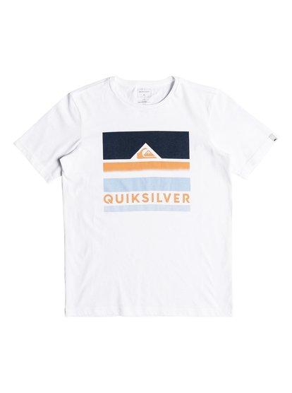 Classic loud places <strong>t</strong> shirt col rond pour garçon blanc quiksilver