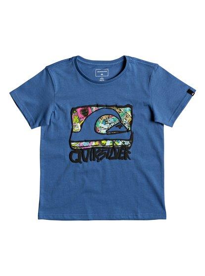 Classic wemi <strong>t</strong> shirt col rond pour garçon bleu quiksilver