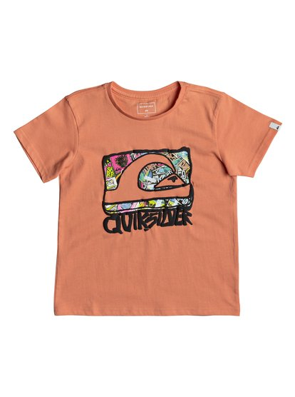 Classic wemi <strong>t</strong> shirt col rond pour garçon orange quiksilver