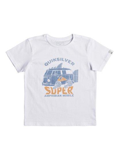 Classic amphibian <strong>t</strong> shirt col rond pour garçon blanc quiksilver
